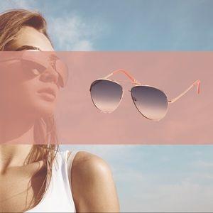 NWT AEO Aviator Sunglasses: rose gold / silver